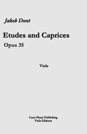 Jakob Dont: Etudes and Caprices, op.35 -Transcribed for Viola