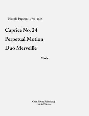"Niccolo Paganini – ""Collection for Viola"""