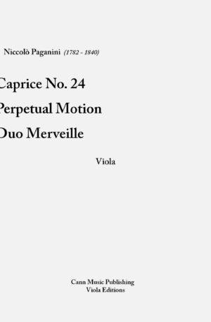 """Niccolo Paganini – """"Collection for Viola"""""""