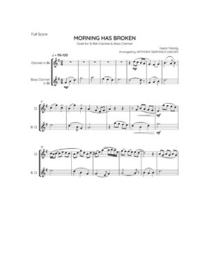 MORNING HAS BROKEN – clarinet/bass clarinet