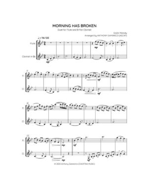 MORNING HAS BROKEN – flute/clarinet duet