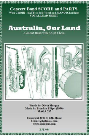 Australia, Our Land – SATB Choir and Concert Band