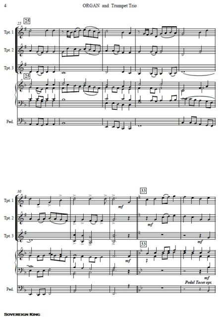 084 Sovereign King Trumpet Trio and Organ SAMPLE page 04
