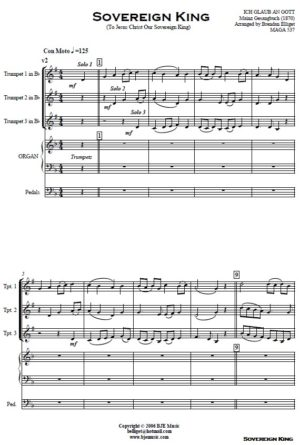 Sovereign King – Trumpet Trio and Organ