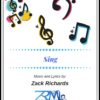 Sing by Zack Richards page 001