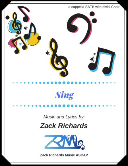 Sing by Zack Richards page 001 scaled