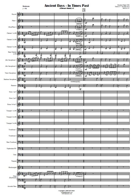 425 Ancient Days Concert Band SAMPLE page 01