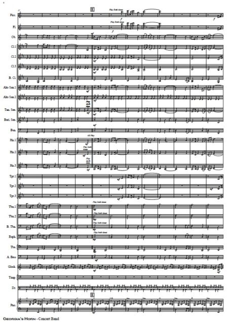 197 Georgias Horn Horn solo and Concert Band SAMPLE page 05