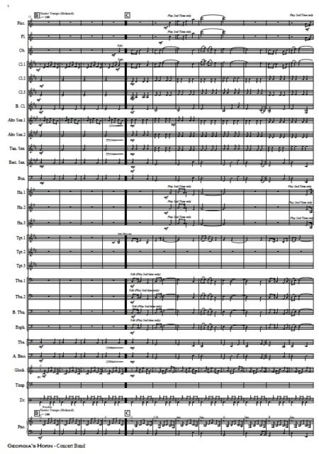 197 Georgias Horn Horn solo and Concert Band SAMPLE page 03