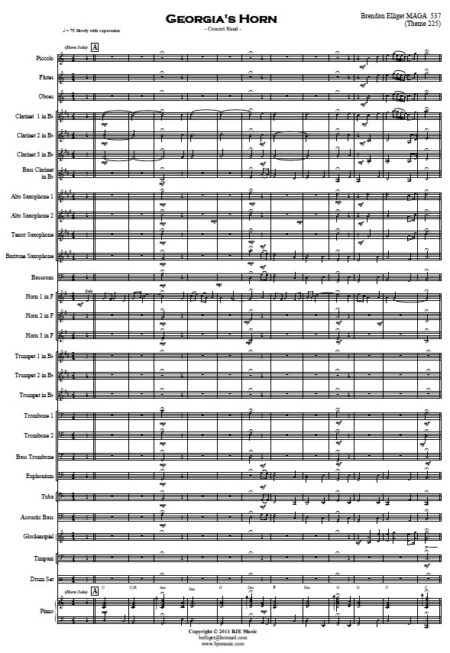 197 Georgias Horn Horn solo and Concert Band SAMPLE page 02