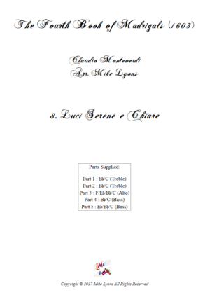 Flexi Quintet – Monteverdi, 4th Book of Madrigals – 08. Luci serene e chiare