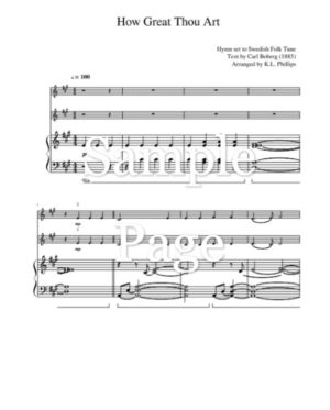 How Great Thou Art – Violin Duet with Piano Accompaniment