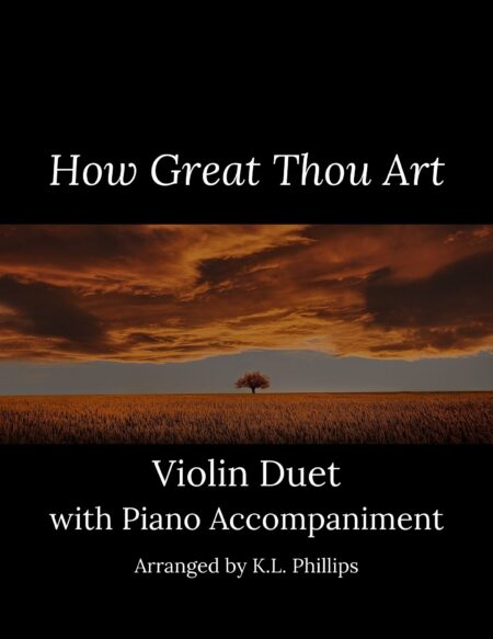 How Great Thou Art - Violin Duet with Piano Accompaniment cover