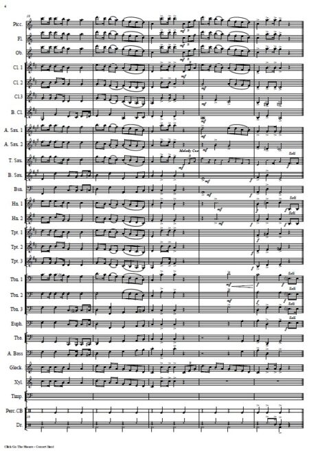 032 Click Go The Shears Concert Band SAMPLE page 04