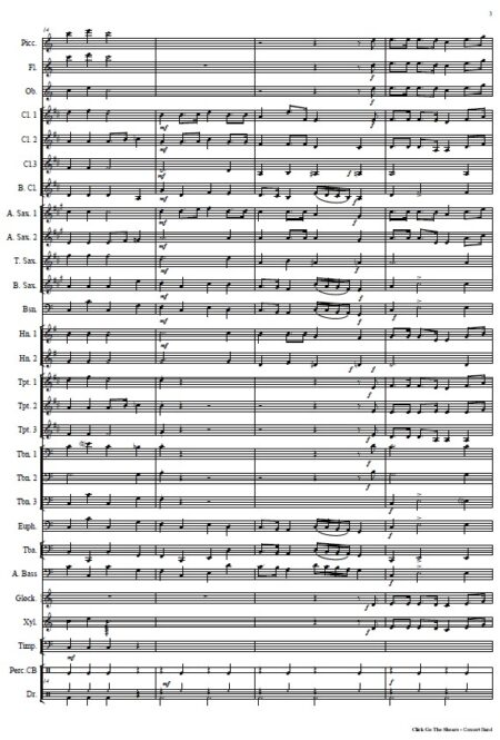 032 Click Go The Shears Concert Band SAMPLE page 03