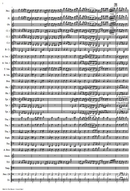 032 Click Go The Shears Concert Band SAMPLE page 02