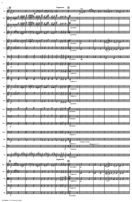 444 The Trumpeter Solo Trumpet and Orchestra SAMPLE page 06