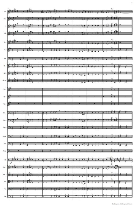 444 The Trumpeter Solo Trumpet and Orchestra SAMPLE page 05