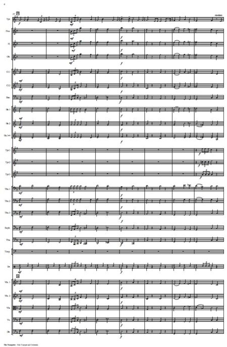 444 The Trumpeter Solo Trumpet and Orchestra SAMPLE page 04