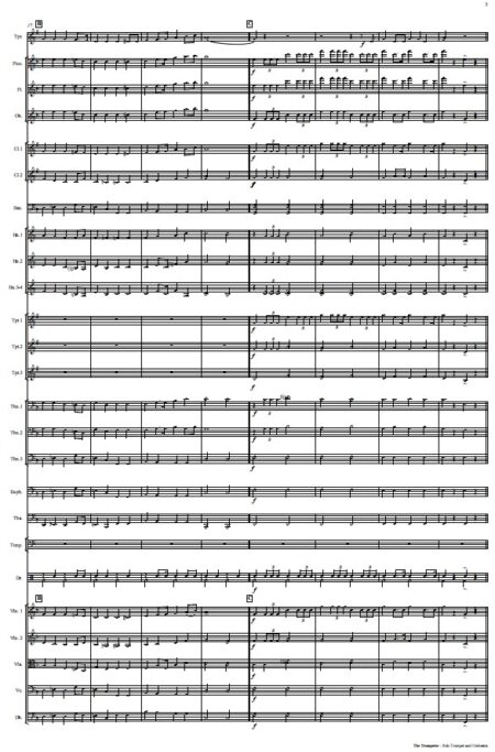 444 The Trumpeter Solo Trumpet and Orchestra SAMPLE page 03
