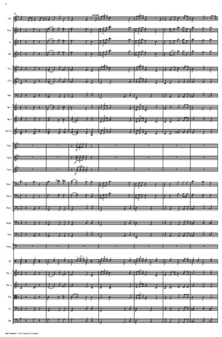 444 The Trumpeter Solo Trumpet and Orchestra SAMPLE page 02