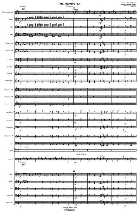 444 The Trumpeter Solo Trumpet and Orchestra SAMPLE page 01