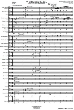 The Huron Carol ('Twas in the Moon of Wintertime) – Concert Band