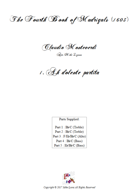 Madrigals Book 4 1