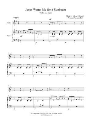 Jesus Wants Me for a Sunbeam – Violin & Piano