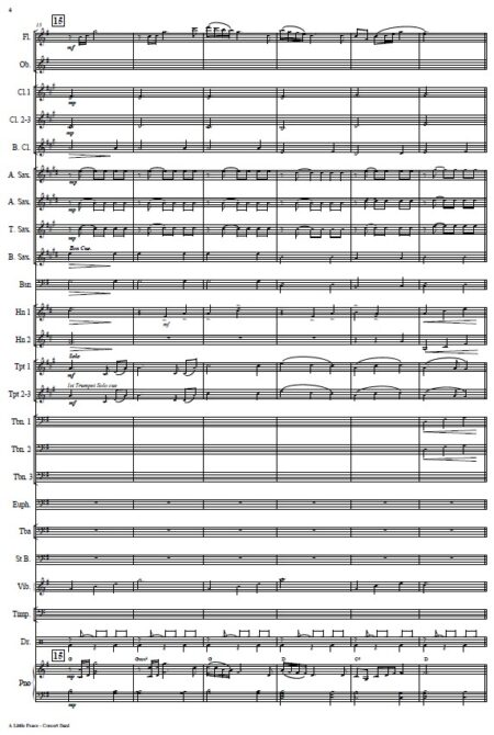 005 A Little Peace Concert Band SAMPLE page 04