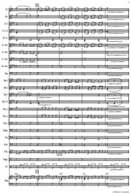 005 A Little Peace Concert Band SAMPLE page 03
