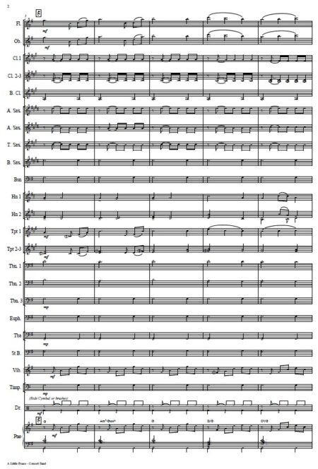 005 A Little Peace Concert Band SAMPLE page 02