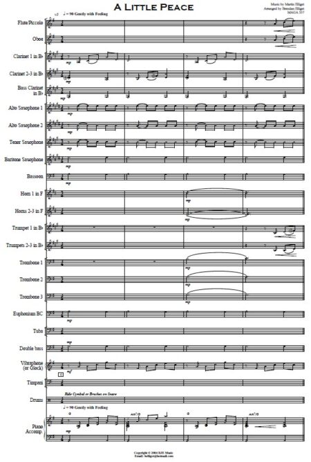 005 A Little Peace Concert Band SAMPLE page 01