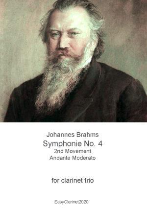 Johannes Brahms, Symphony No. 4, Mvt 2 – for Clarinet trio