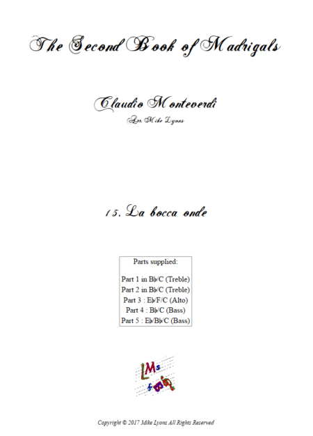 Madrigals Book 2 15