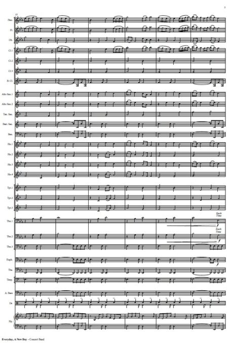 452 Everyday A New Day Concert Band SAMPLE page 03