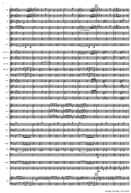 452 Everyday A New Day Concert Band SAMPLE page 02