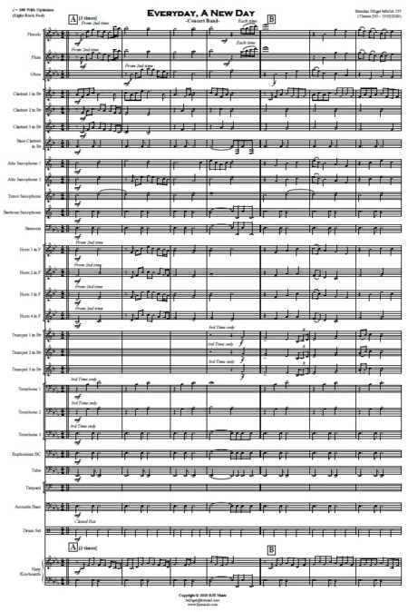 452 Everyday A New Day Concert Band SAMPLE page 01