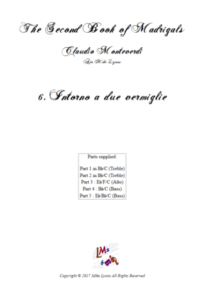 Flexi Quintet – Monteverdi, 2nd Book of Madrigals 6. Intorno a due vermiglie