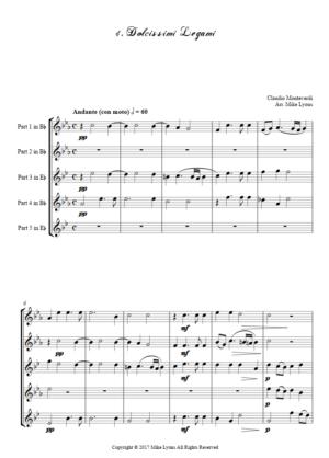 Flexi Quintet – Monteverdi, 2nd Book of Madrigals 4. Dolcissimi Legami