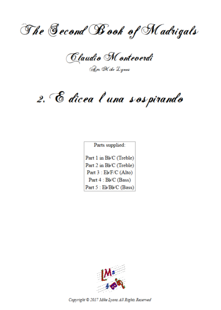 Madrigals Book 2 2