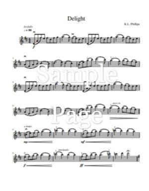 Delight – Unaccompanied Violin Solo