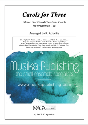 Carols for Three – 15 Carols for Woodwind Trio