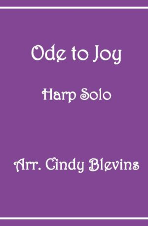 Ode To Joy, Harp Solo with recording, Lever or Pedal Harp