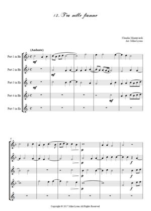 Flexi Quintet Monteverdi, 1st Book of Madrigals 1. – 13. Tra Mille Fiamme