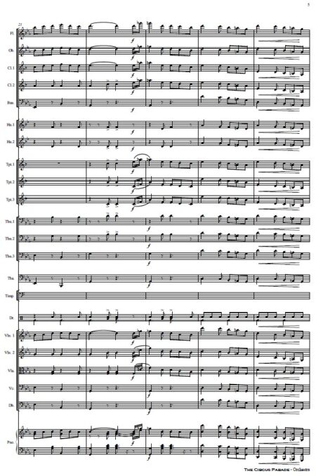 109 The Circus Parade Orchestra SAMPLE page 05