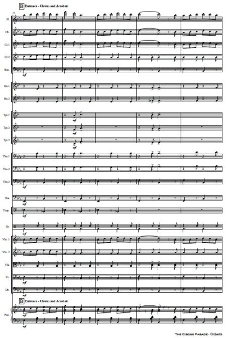109 The Circus Parade Orchestra SAMPLE page 03