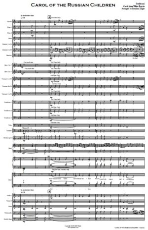 Carol of the Russian Children – Orchestra and SATB Choir