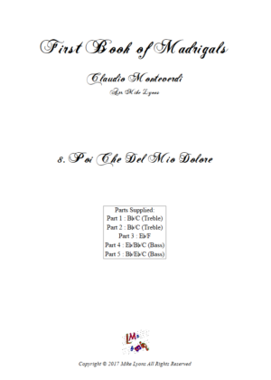 Flexi Quintet Monteverdi, 1st Book of Madrigals 1. – 8. Poi Che Del Mio Dolore