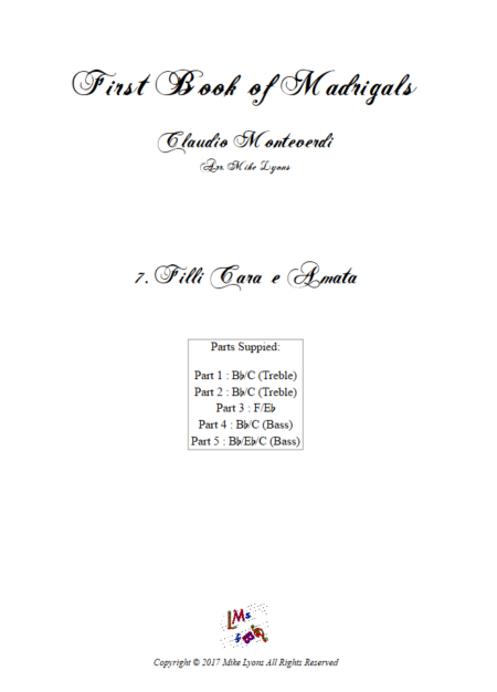 Madrigals Book 1 7
